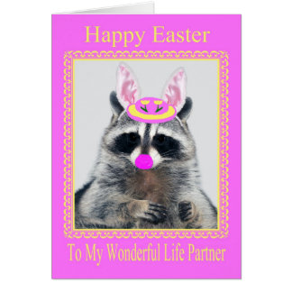 Happy Easter To Life Partner Greeting Card