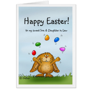 Happy Easter to my Son & Daughter in Law Card