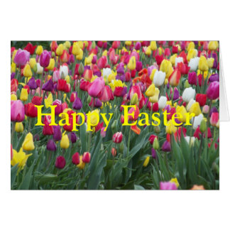 Happy Easter Tulip Greeting Card