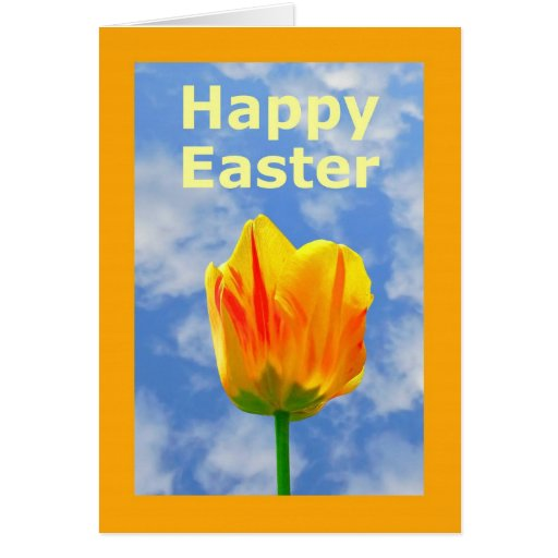 Happy Easter Tulip Greeting Card For Anyone