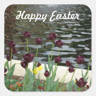 Happy Easter Tulip Sticker