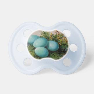 Happy Easter Vintage Blue Egg Pacifier