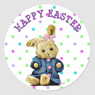 Happy Easter Vintage Bunny Sticker