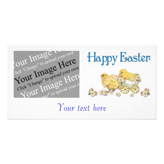 Happy Easter Vintage Chicks Custom Photo Card
