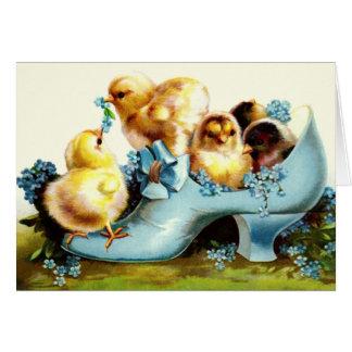 Happy Easter Vintage Design Easter Greeting Card