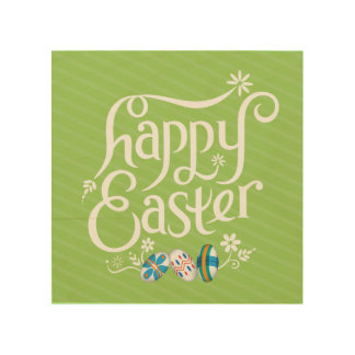 Happy Easter - Wall Art Wood Canvas