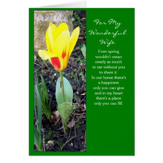 Happy Easter Wife Card - Tulip