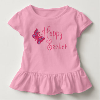 Happy Easter with Butterfly Toddler T-shirt