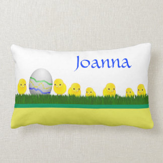 Happy Easter with chicks and egg Pillows