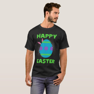 Happy Easter With Colorful Egg And Bunny EarsTee T-Shirt