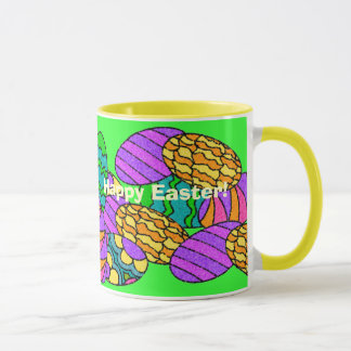 Happy Easter - with Easter Eggs Mug