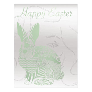 Happy Easter With Monroe Greeting Rabbit Mint Postcard