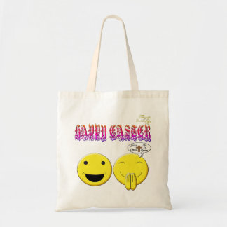 Happy Easter with smiley images Budget Tote