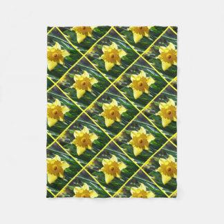 Happy Easter! Yellow Daffodil Fleece Blanket