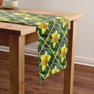 Happy Easter! Yellow Daffodil Short Table Runner