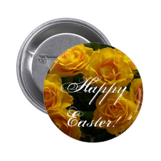 Happy Easter Yellow Rose Pins