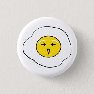 Happy egg 1 inch round button