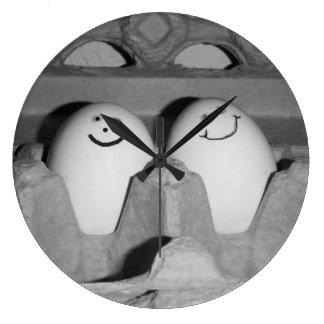 Happy Egg Friends Wall Clock