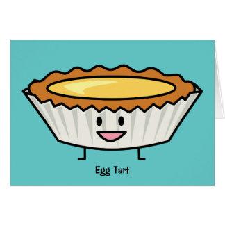 Happy Egg Tart Custard crust Chinese dessert Card