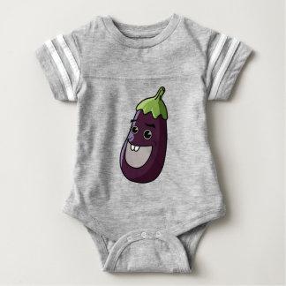 Happy Eggplant Baby Bodysuit