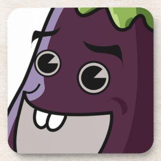 Happy Eggplant Coaster