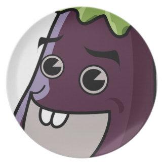 Happy Eggplant Plate
