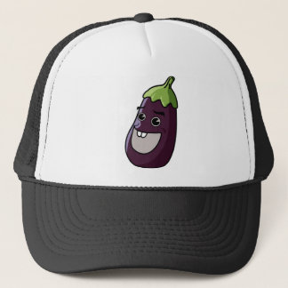 Happy Eggplant Trucker Hat