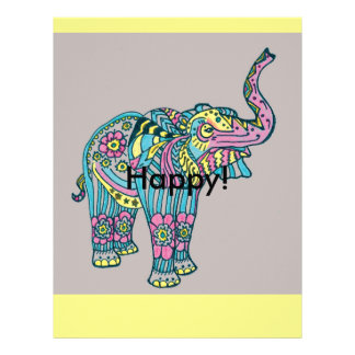 Happy Elephant Letterhead Design