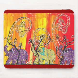 Happy Elephant Parade Mousepad