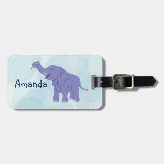 Happy Elephant (personalize) Luggage Tag