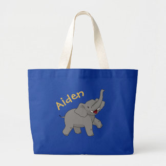 Happy Elephant Personalized Tote Bag