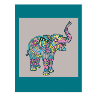 Happy Elephant Postcard