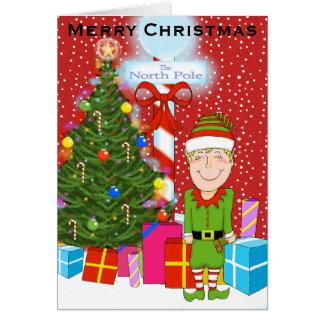 Happy Elf Christmas Greeting Card