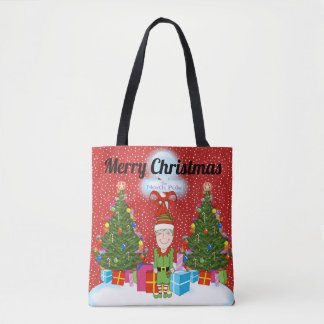 Happy Elf Christmas Tote Bag