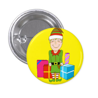 Happy Elf Holiday Pin