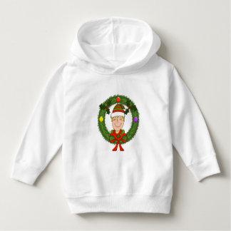 Happy Elf in Wreath Toddler Hoodie