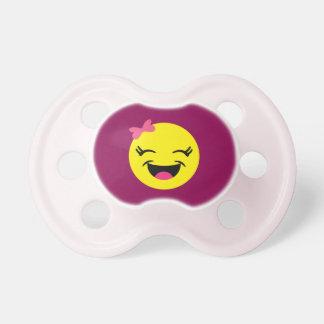Happy Emoji Girl Pacifier