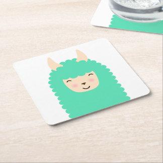 Happy Emoji Llama Coasters