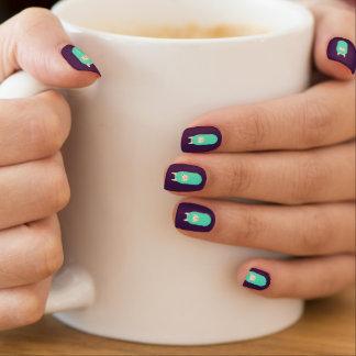Happy Emoji Llama Purple Nail Art