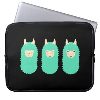 Happy Emoji Llamas Laptop Sleeve