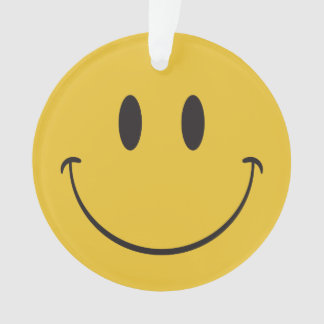 happy emoji ornament