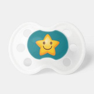 Happy Emoji Star Pacifier
