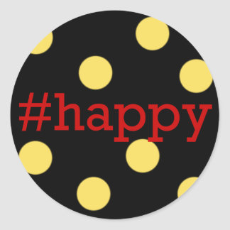 #happy Envelope Seal, Hashtag Holiday Collection   Classic Round Sticker