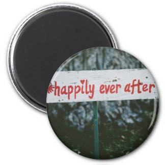 Happy ever after 2 inch round magnet