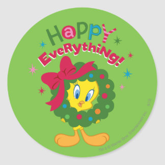 Happy Everything Classic Round Sticker