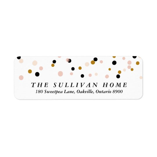 Happy Everything Confetti | Holiday Address Label