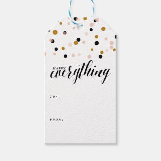 Happy Everything Confetti | Holiday Gift Tags