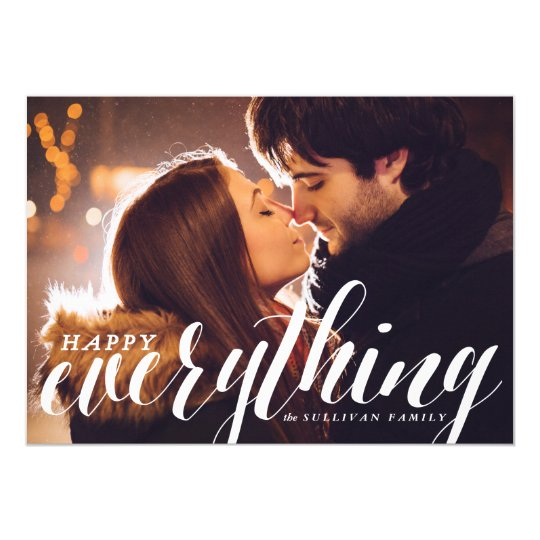 Happy Everything Confetti | Holiday Photo Card