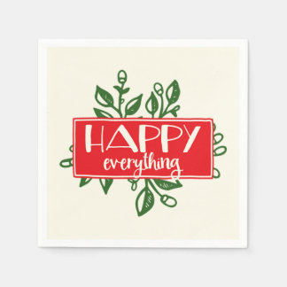 Happy Everything Holiday Paper Napkins