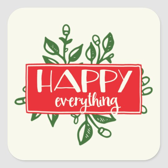 Happy Everything Holiday Sticker Labels